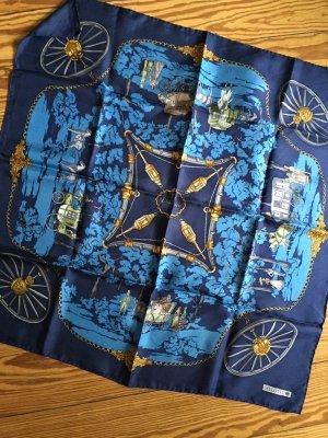 Bellotti Seidentuch Carré blau Vintage