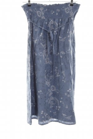 Bellybutton Midi Skirt blue-light grey abstract pattern casual look
