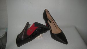 Belmondo´Big Business City Walk Pumps Leder Kroko  Mocca Neu