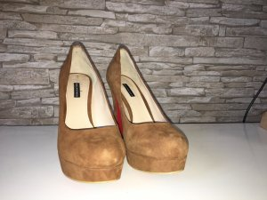 Belmondo High Heels brown-cognac-coloured