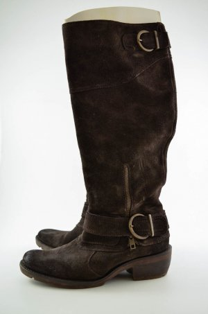 Belmondo High Boots dark brown leather