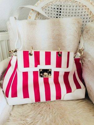 Belmondo Handtasche gestreift pink weiß