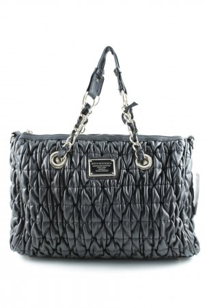 Belmondo Carry Bag black-silver-colored quilting pattern casual look