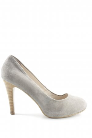 Belmondo High Heels hellgrau-creme Business-Look