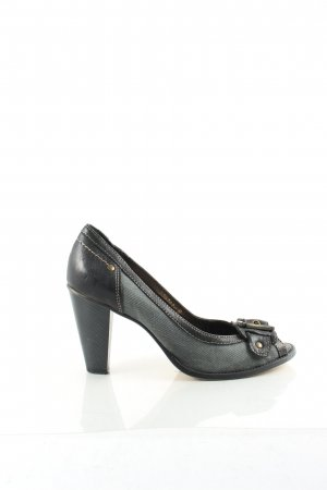 Belmondo Peep Toe Pumps black-slate-gray casual look