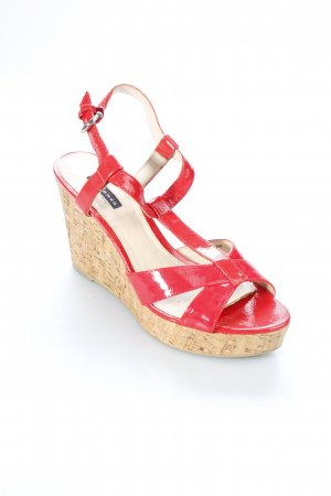 Belmondo Platform High-Heeled Sandal red leather-look