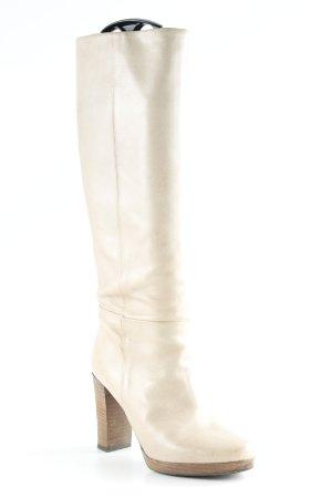 Belmondo Stivale con plateau crema stile casual