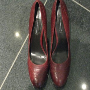 Belmondo High Heels carmine leather