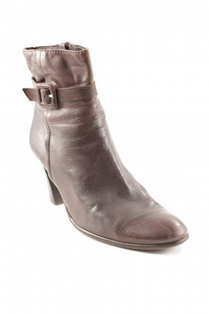 Belmondo Zipper Booties dark brown wet-look