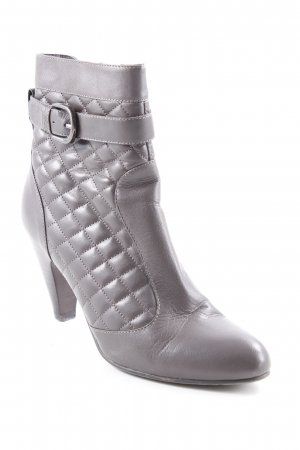 Belmondo Reißverschluss-Stiefeletten graubraun Steppmuster Elegant