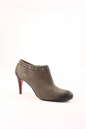 Belmondo Zipper Booties sage green wet-look