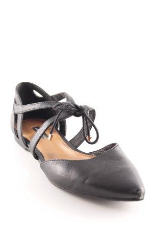 Belmondo Ballerines à lacets noir élégant