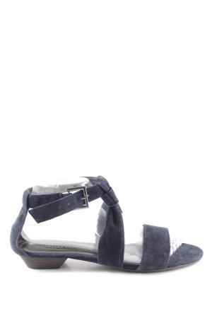 Belmondo Riemchen-Sandaletten neonblau-braun Casual-Look