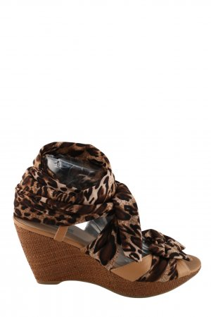 Belmondo Strapped High-Heeled Sandals bronze-colored casual look