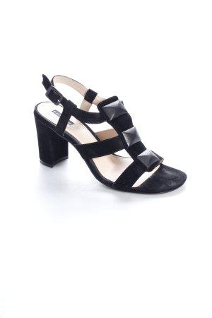 Belmondo Riemchen-Sandaletten schwarz Applikation