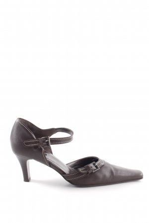 Belmondo Riemchenpumps braun Business-Look
