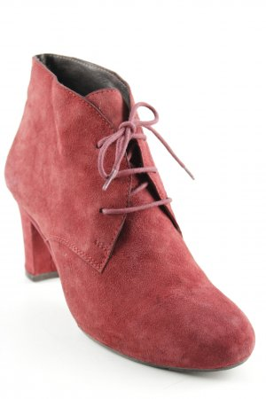 Belmondo Lace-up Booties carmine simple style