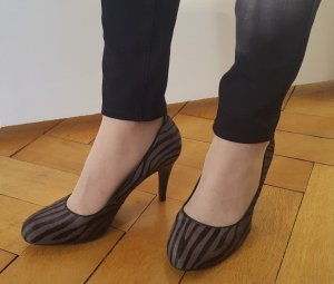 Belmondo Statement-Pumps, Heels, Gr. 38, Animal Print Zebra, Fell, neu