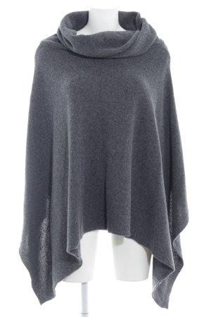Belmondo Poncho in maglia grigio soffice