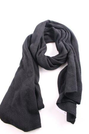 Belmondo Écharpe en tricot noir style décontracté
