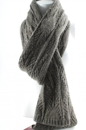 Belmondo Knitted Scarf grey brown casual look
