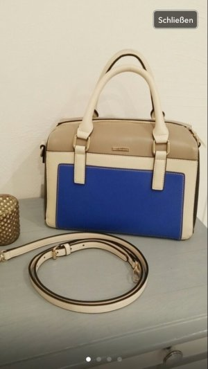 Belmondo Tasche shopper Handtasche blau graublau schwarz braun neu Blogger