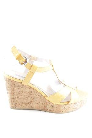 Belmondo Wedges Sandaletten blassgelb-creme Casual-Look