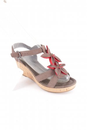 Belmondo Wedge Sandals light brown simple style