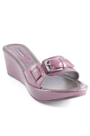 Belmondo Wedge Sandals purple casual look