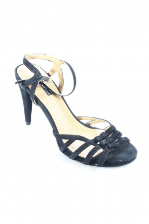 Belmondo High-Heeled Toe-Post Sandals black romantic style