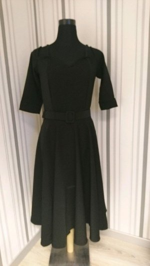 Robe avec jupon noir tissu mixte
