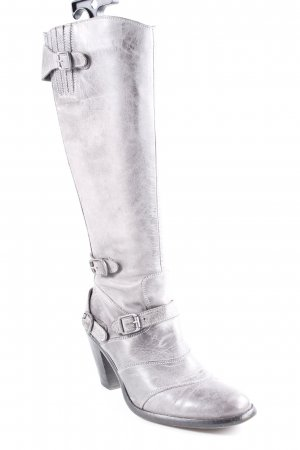 Belstaff Absatz Stiefel grau-dunkelgrau Casual-Look