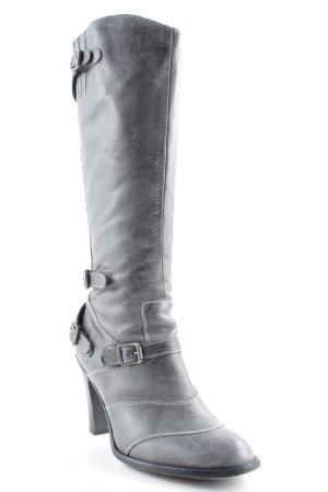 Belstaff Laarzen met hak grijs-zwart elegant
