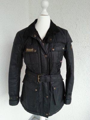 Belstaff Bikerjacke Bradford schwarz Gr.36 gewachste Baumwolle top