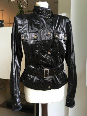 Belstaff Giacca da motociclista nero-argento Tessuto misto