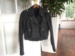 Belstaff H Nail Lady beschichtete kurze Jacke, schwarz, Gr. 38