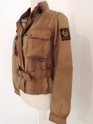Belstaff Short Jacket sand brown-brown cotton