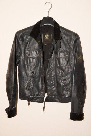 Belstaff Biker Jacket black cotton