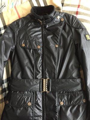 Belstaff Jacke schwarz mit Gürtel