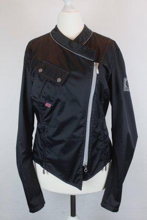 BELSTAFF Jacke Übergangsjacke Bikerjacke Gr. 38 Nylon schwarz (E/MF/SC)