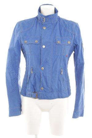 Belstaff Short Jacket blue-cream biker look