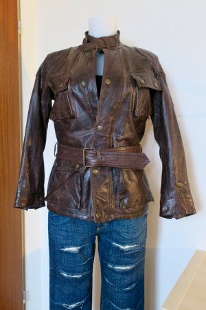 Belstaff Leather Jacket bronze-colored-dark brown