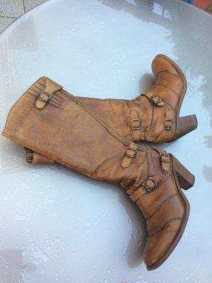 Belstaff Leder Stiefel braun Größe 36