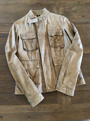 Belstaff Leather Jacket camel leather