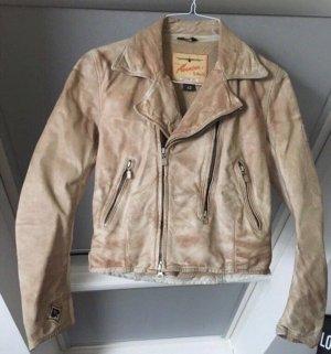 Belstaff Leather Jacket oatmeal