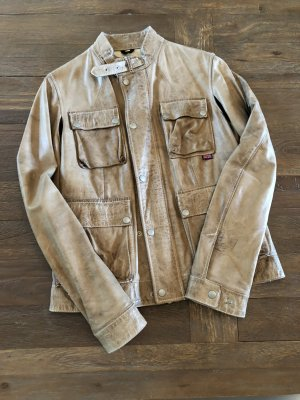 Belstaff Leather Jacket camel