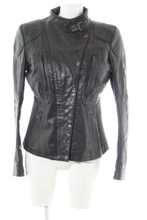 Belstaff Leather Jacket black casual look