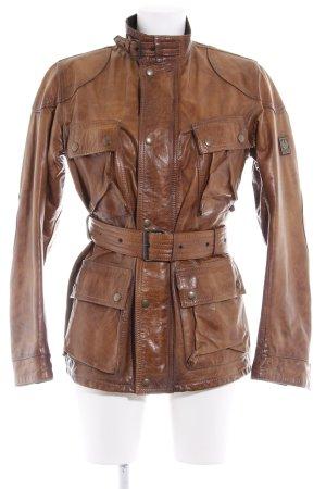 Belstaff Veste en cuir brun style décontracté