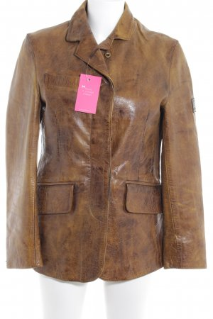 Belstaff Leather Jacket cognac-coloured country style