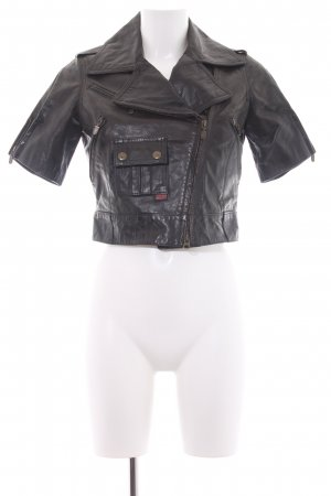 Belstaff Leather Jacket dark brown casual look